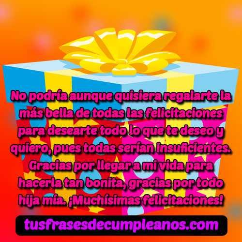 felicitaciones para una hija en su cumpleaños