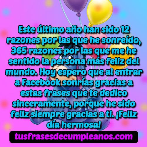 Frases Y Mensajes De Feliz Cumpleañospara Facebook