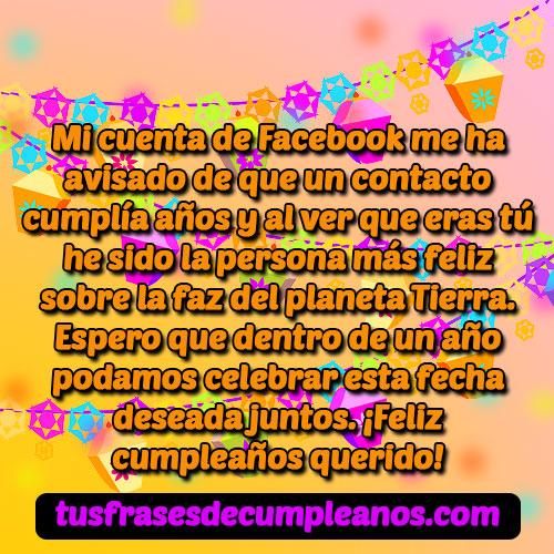 Mensaje de cumpleaños para facebook