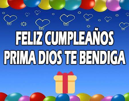 Feliz Cumpleaños Prima Dios te bendiga Mensajes