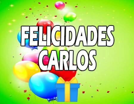 Felicidades Carlos Mensajes