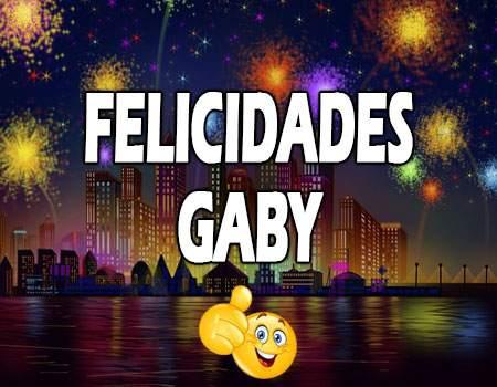 Felicidades Gaby Mensajes