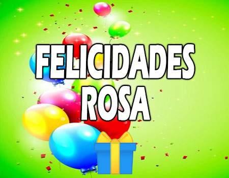 Felicidades Rosa Mensajes