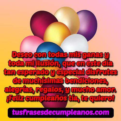 Frases Mensajes De Feliz Cumpleaños Para Una Tía Especial