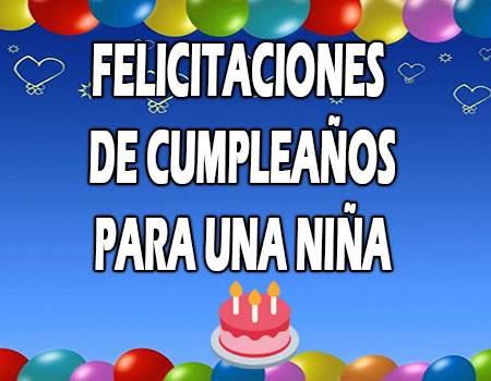 Felicitaciones bonitas de cumpleaños para una niña