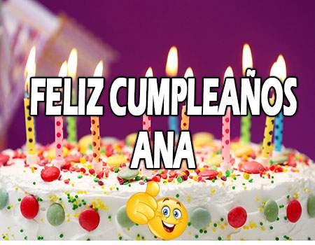 Feliz Cumpleaños Ana Frases