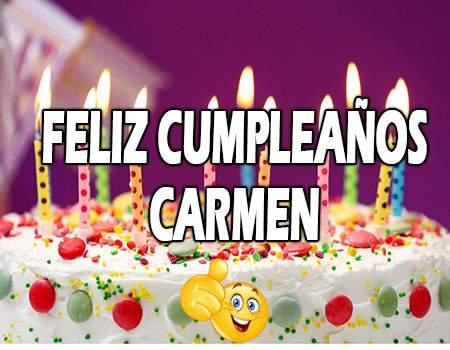Feliz Cumpleaños Carmen Frases