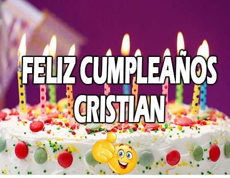 Feliz Cumpleaños Cristian Frases