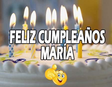 Feliz Cumpleaños María Frases