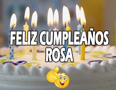 Feliz Cumpleaños Rosa Frases