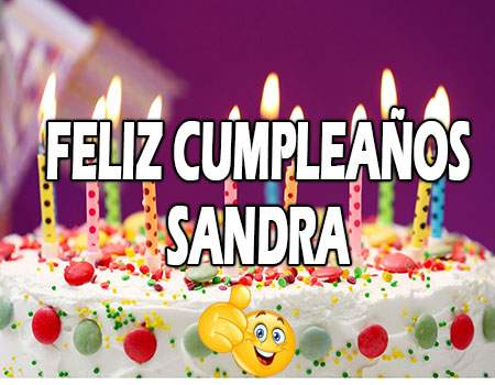 Feliz Cumpleaños Sandra Frases