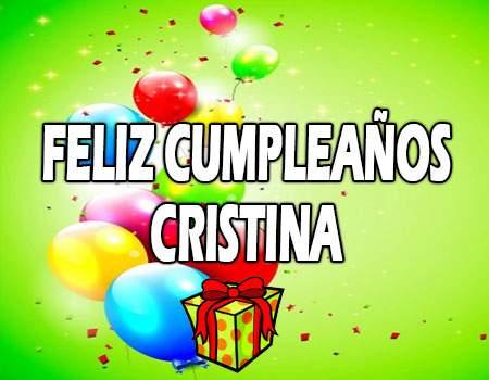 Feliz Cumpleaños Cristina
