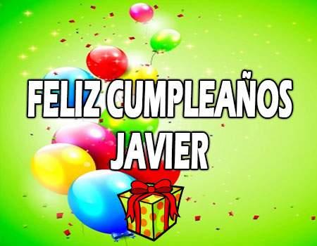 Feliz Cumpleaños Javier