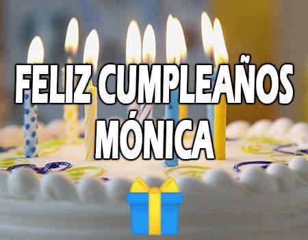 Feliz Cumpleaños Mónica