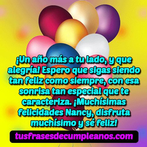 feliz cumpleanos nancy