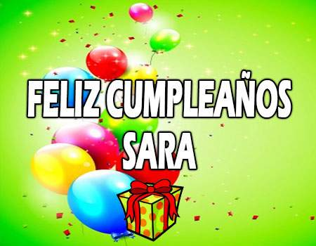 Feliz Cumpleaños Sara