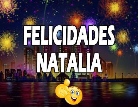 Felicidades Natalia Mensajes