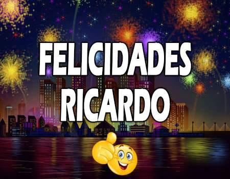 Felicidades Ricardo Mensajes