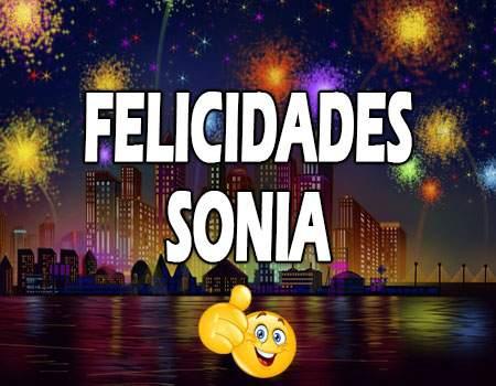 Felicidades Sonia Mensajes