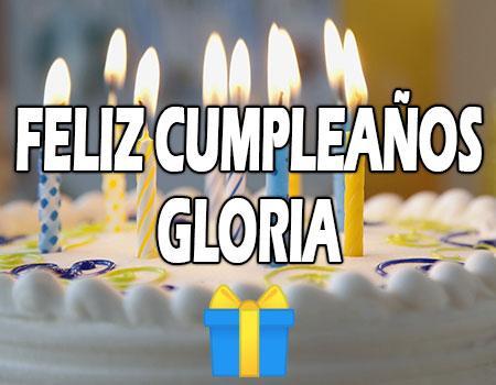 Feliz Cumpleaños Gloria