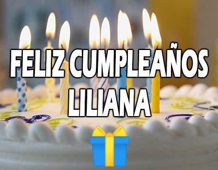 Feliz Cumpleaños Liliana