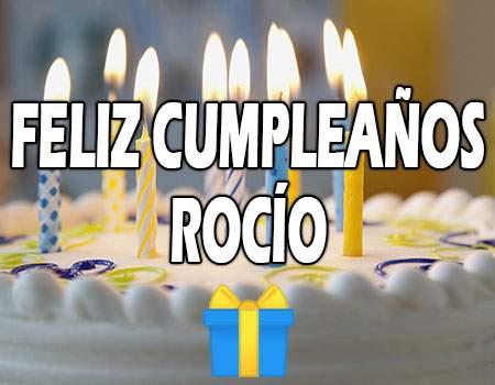 Feliz Cumpleaños Rocío
