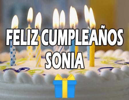 Feliz Cumpleaños Sonia
