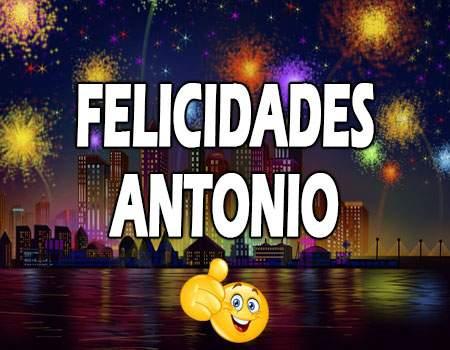 Felicidades Antonio Mensajes