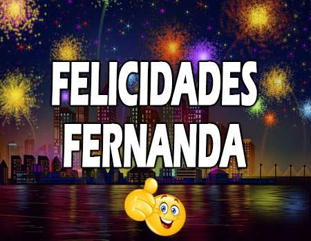 Felicidades Fernanda Mensajes