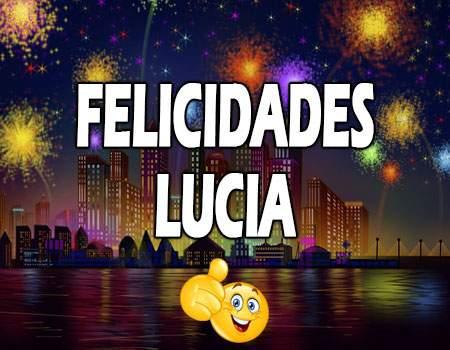 Felicidades Lucía Mensajes