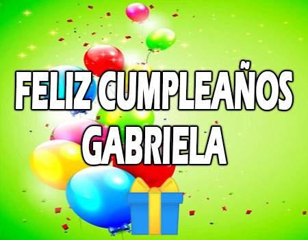 Feliz Cumpleaños Gabriela