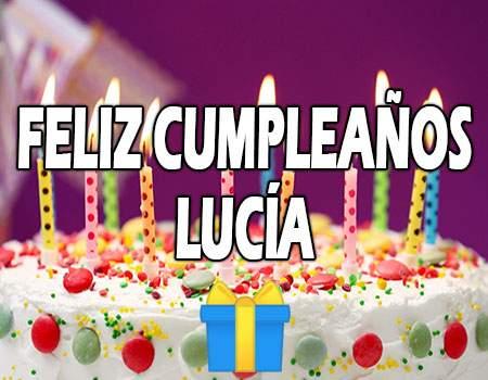 Feliz Cumpleaños Lucía
