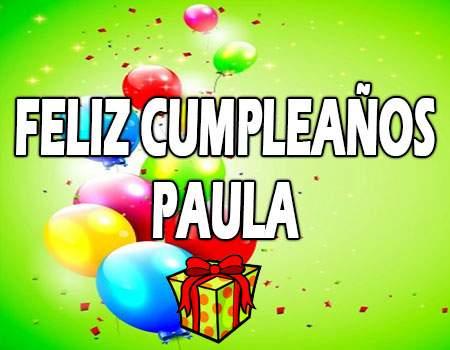 Feliz Cumpleaños Paula