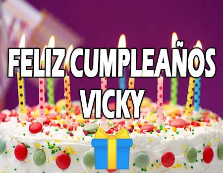 Feliz Cumpleaños Vicky