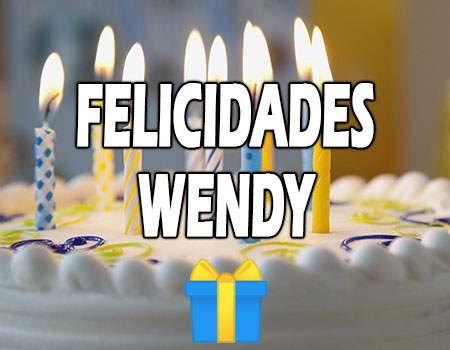 Felicidades Wendy Mensajes