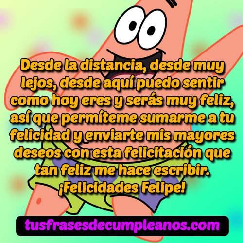 Feliz Cumpleaños Felipe Mensajes