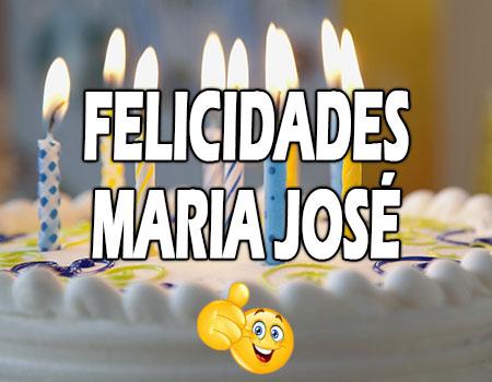 Felicidades Maria José Mensajes