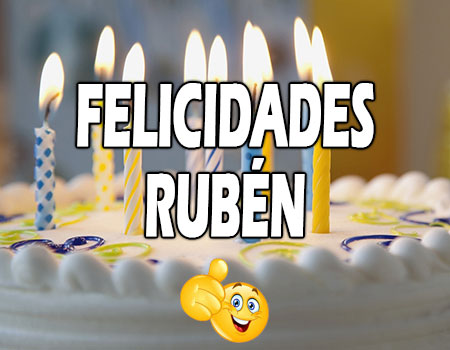 Felicidades Rubén Mensajes