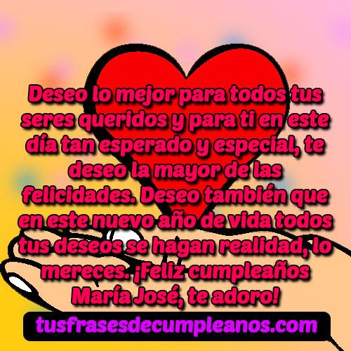 Feliz Cumpleaños María José Frases