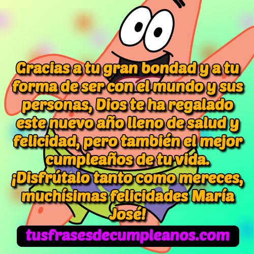Feliz Cumpleaños María José Mensajes