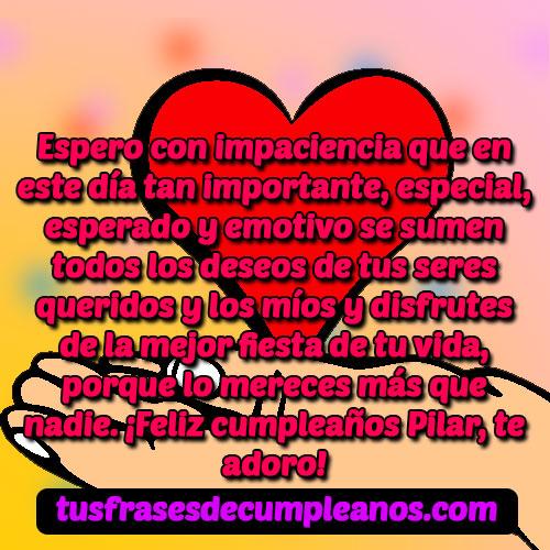 Feliz Cumpleanos Pilar Frases