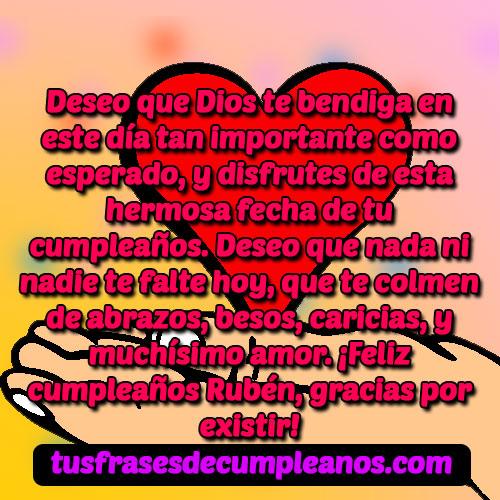 Feliz Cumpleaños Rubén Mensajes