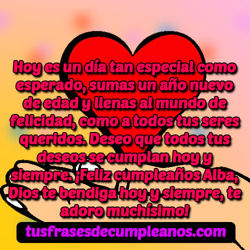 Feliz Cumpleaños Alba Frases
