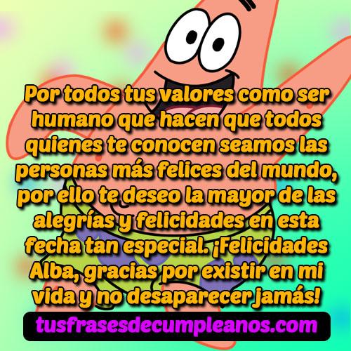 Feliz Cumpleaños Alba Mensajes