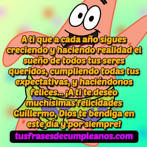 Feliz Cumpleaños Guillermo Mensajes