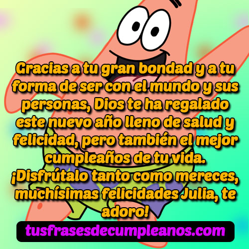 Feliz Cumpleaños Julia Mensajes