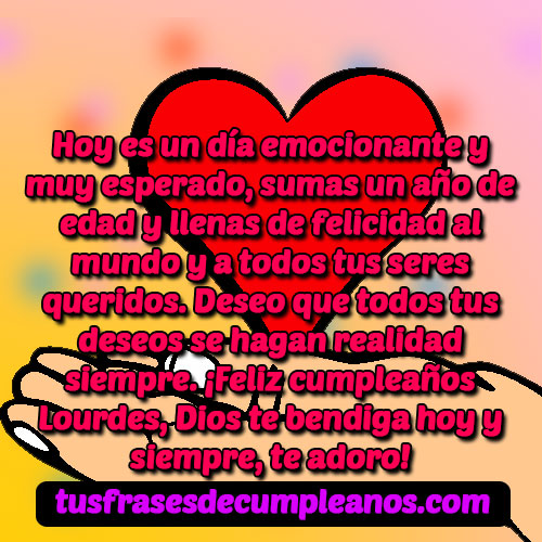 Feliz Cumpleaños Lourdes Frases