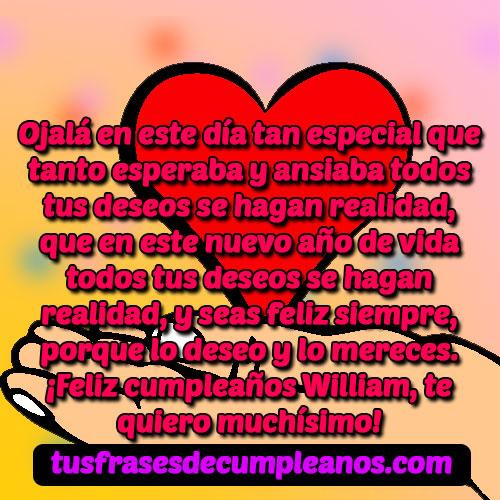 Feliz Cumpleaños William Frases