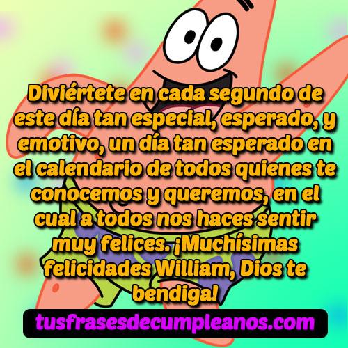Feliz Cumpleaños William Mensajes