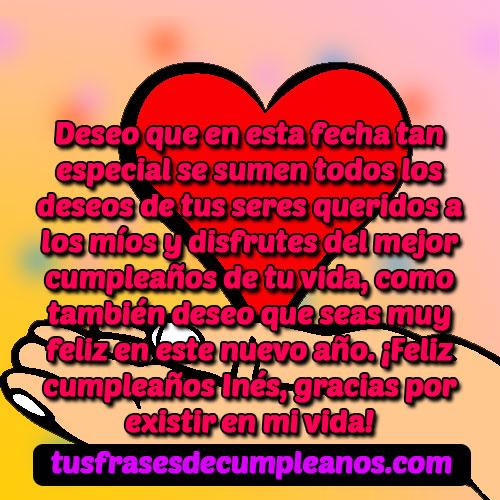 Feliz Cumpleaños Inés Frases